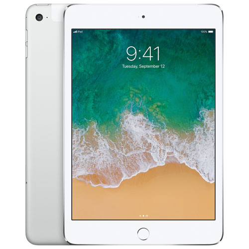 Apple iPad mini 4 128GB With Wi-Fi & 3G/4G/4G LTE - Silver