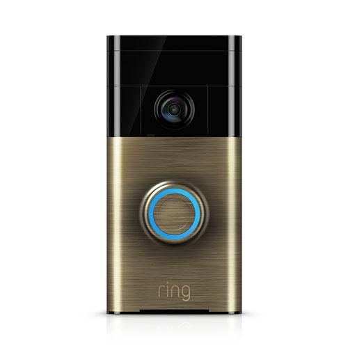 Sonnette de porte vidéo 720p Wi-Fi de Ring - Laiton antique