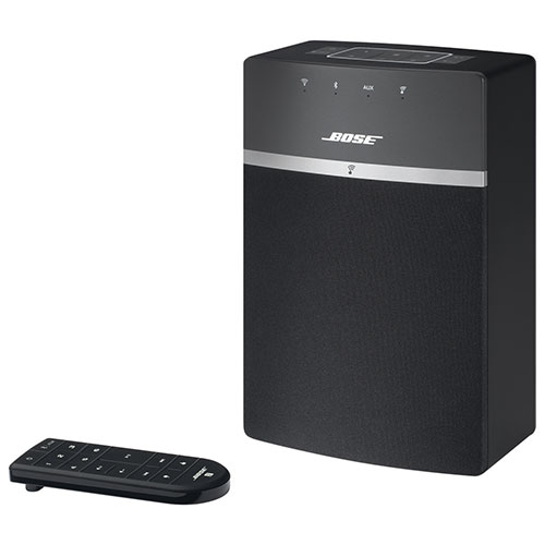 bose soundtouch 10 wireless multi room speaker black wireless multi room speakers best buy. Black Bedroom Furniture Sets. Home Design Ideas