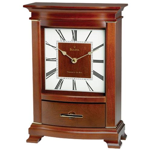 Bulova Tamarand Analog Tabletop Clock - Mahogany