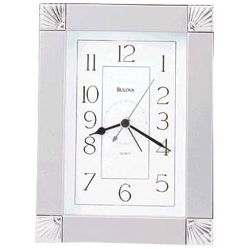 Bulova Ridgecrest Analog Tabletop Clock - Silver
