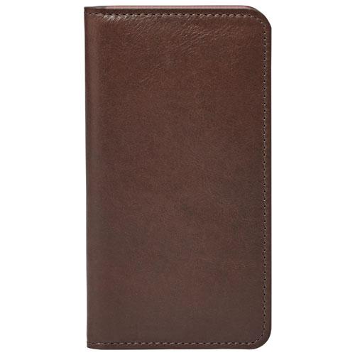 Étui folio portefeuille de Fossil pour iPhone 6 - Brun foncé