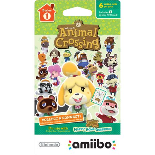 Cartes à échanger amiibo d'Animal Crossing: Happy Home Designer