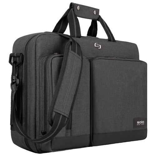 "Solo Urban 15.6"" Laptop Briefcase - Grey"