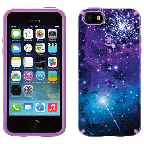 Étui rigide CandyShell Inked Galaxy de Speck pour iPhone 5/5s/SE - Violet