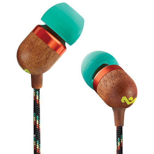 House of Marley Smile Jamaica In-Ear Headphones with Mic (EM-JE041-RA) - Rasta