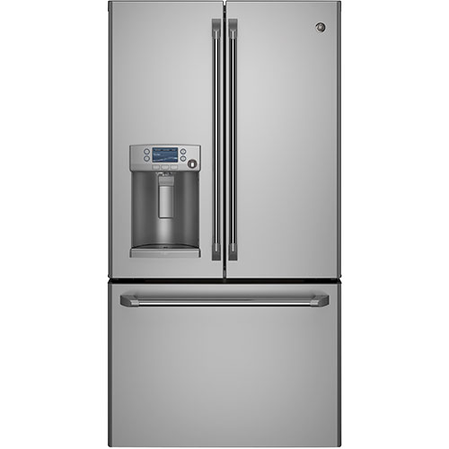 "GE Cafe 36"" 22.1 Cu. Ft. Counter-Depth French Door Refrigerator - Stainless Steel"