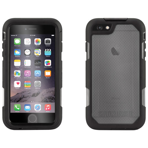 Griffin Survivor Summit iPhone 6 Plus/iPhone 6s Plus Fitted Hard Shell Case - Black/Clear