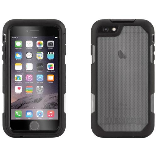 Étui rigide ajusté Survivor Summit de Griffin pour iPhone 6 Plus/6s Plus - Noir - Transparent