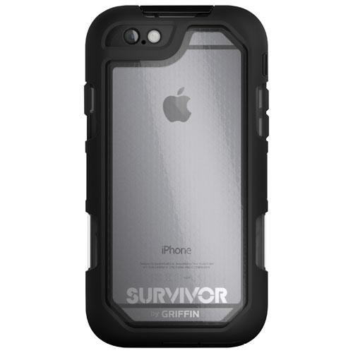 Griffin Survivor Summit iPhone 6/6s Fitted Hard Shell Case - Black/Clear