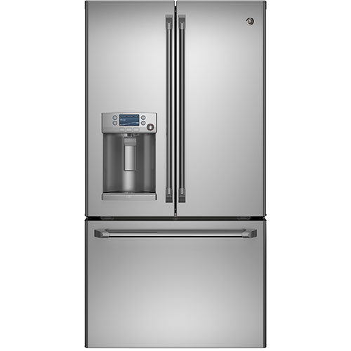 "GE Café 35.75"" 27.8 Cu. Ft. French Door Refrigerator (CFE28TSHSS) - Stainless Steel"