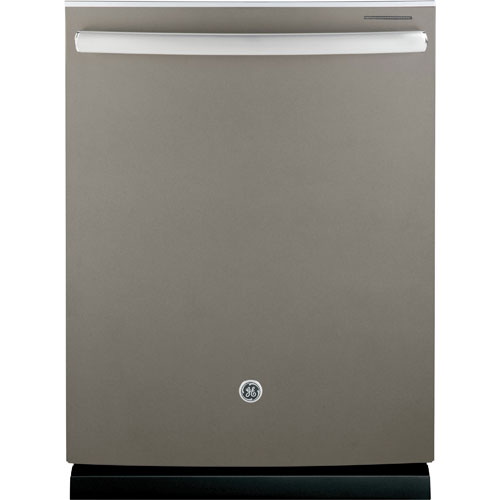 "GE 24"" 48 dB Tall Tub Dishwasher with Stainless Steel Tub (GDT650SMJES) - Slate"