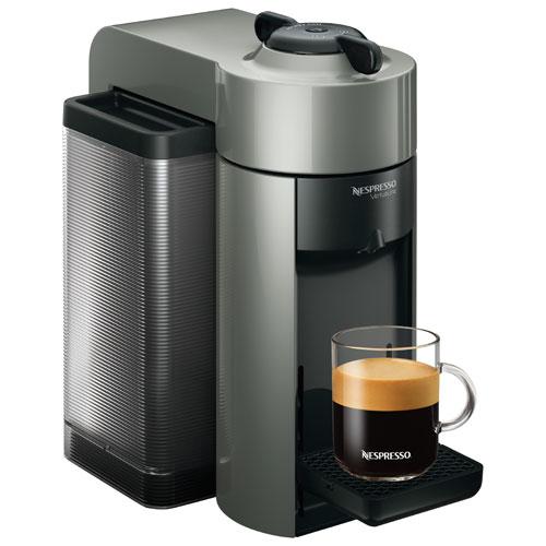 Single Cup Coffee Maker Nespresso : Nespresso VertuoLine Evoluo Single Serve Coffee Maker (GCC1-US-GR-NE) - Grey : Espresso Machines ...