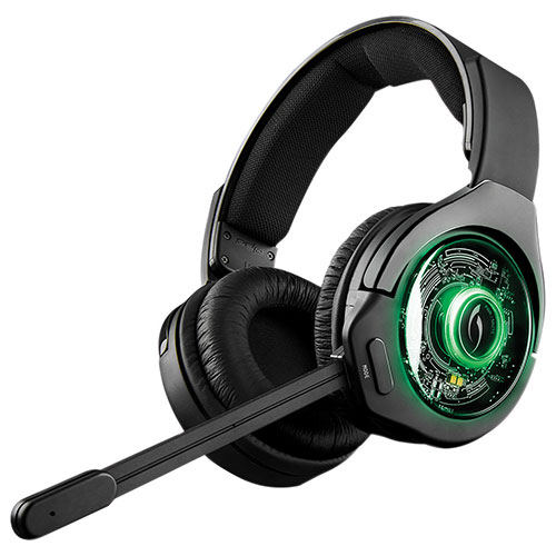 PDP Afterglow 9 Over-Ear Noise Cancelling Wireless Headset for Xbox One - Black