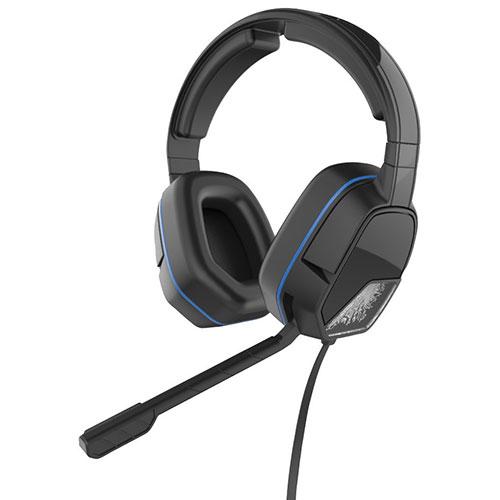 Casque d'écoute à isolation sonore Afterglow LVL 3 de PDP pour PS4 - Noir - Bleu