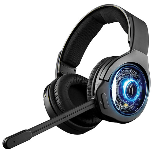 PDP Afterglow 9 Over-Ear Noise Cancelling Wireless Headset for PS4 - Black