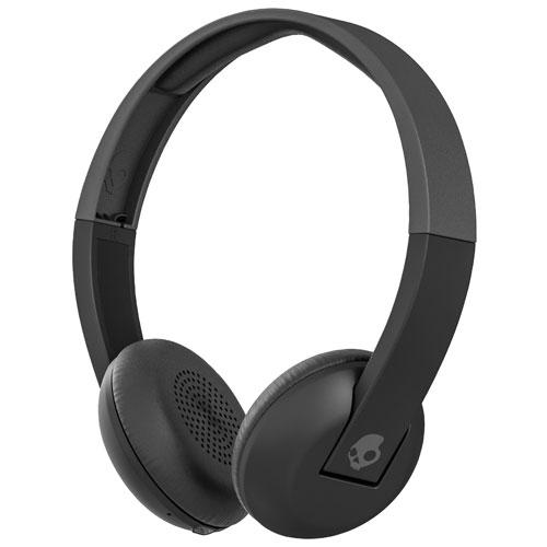 Skullcandy Uproar On-Ear Sound Isolating Wireless Headphones with Mic (S5URHW-509) - Black/Grey