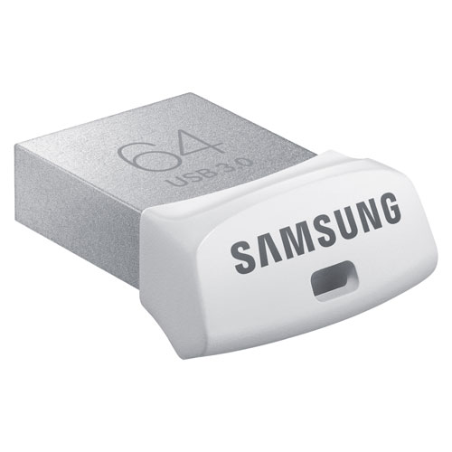 Samsung FIT 64GB USB 3.0 Flash Drive - Silver/White