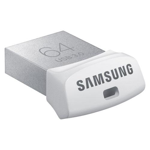 Clé USB 3.0 de 64 Go FIT de Samsung - Argenté - Blanc