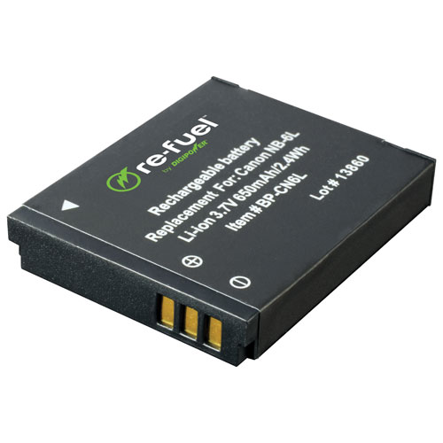 Re-Fuel Lithium-Ion Battery for SD770, SD1200 & D10 Canon Digital Cameras (RF-CN6L)