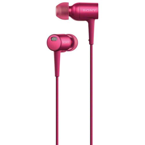 Écouteurs bouton haute résolution à suppression du bruit h.ear de Sony - Rose