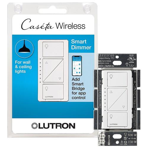Interrupteur de gradateur Caseta de Lutron (PD-6WCL-WH-C)