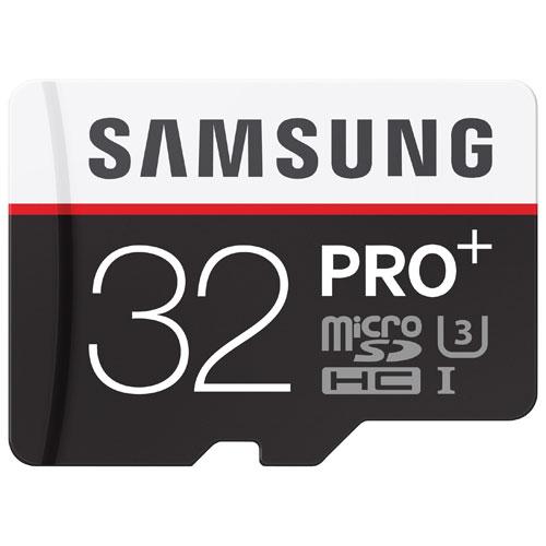 Carte mémoire microSDHC 95 Mo/s de 32 Go PRO+ de Samsung
