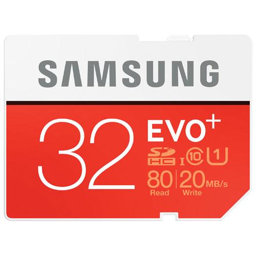 Samsung EVO+ 32GB 80MB/s SDHC Memory Card