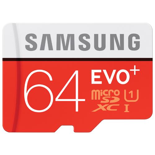 Carte mémoire microSDXC 80 Mo/s 64 Go EVO+ de Samsung