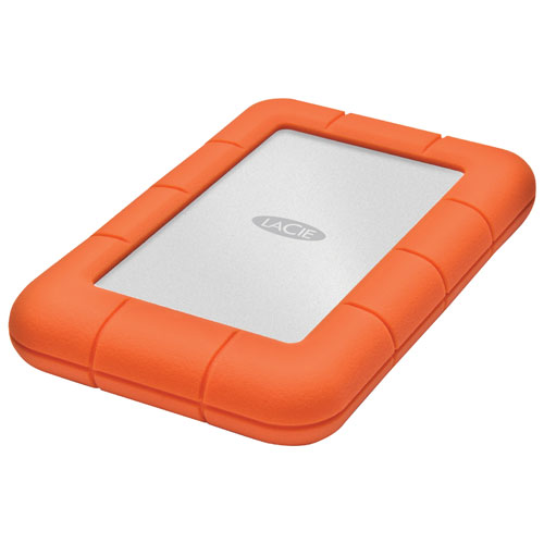 "LaCie Rugged 1TB 2.5"" 10GB/s Thunderbolt Portable External Hard Drive (LAC9000488)"