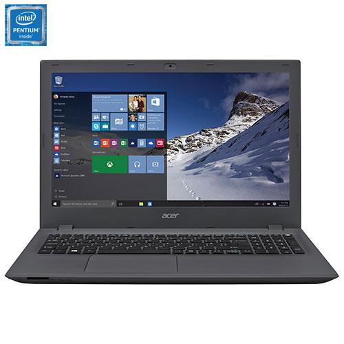 "Acer Aspire E 15"" Laptop - Black/Iron (Intel Pentium Quad Core N3700/1TB HDD/8GB RAM/Windows 10)"