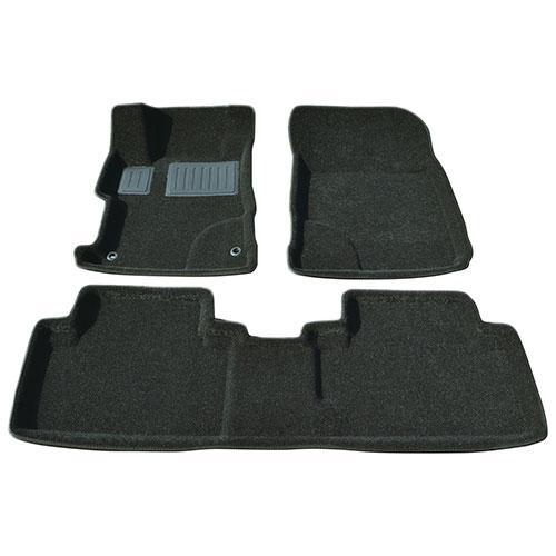 Findway 3D Floor Mats for 2012-2013 Honda Civic (26090BB) - Black
