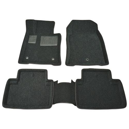 Findway 3D Floor Mats for 2009-2014 Acura TL Sedan FWD (01020BB) - Black