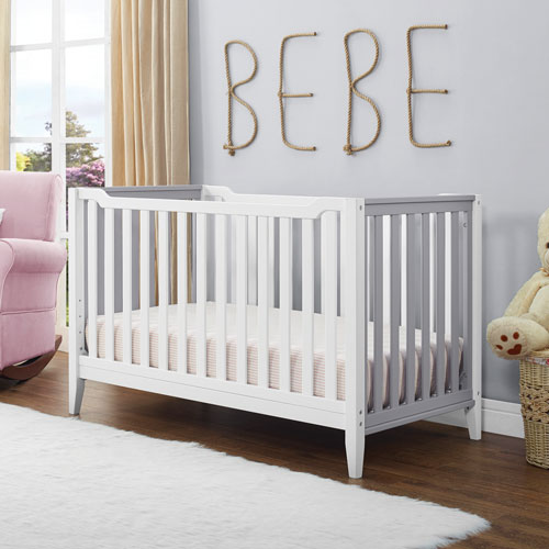 baby relax aaden 3in1 convertible crib white grey - Convertible Baby Cribs