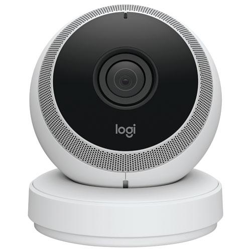 Caméra IP HD Wi-Fi intérieure avec communication bidirectionnelle Circle de Logi - Blanc