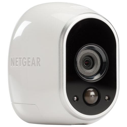 Système de surveillance intérieur/extérieur sans fil avec 1 caméra 720p Arlo - Blanc