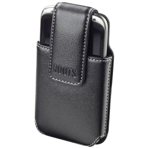 Roots Universal Leather Smartphone Holder - Black