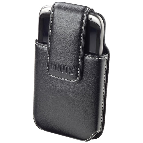 Roots Universal Leather Smartphone Holster - X-Large - Black