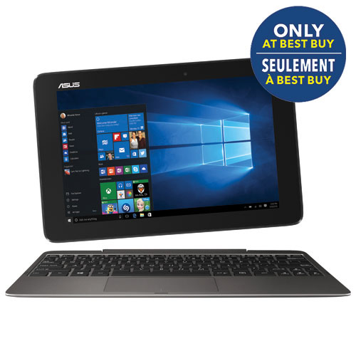 "ASUS Transformer Book 10.1"" Touch Convertible Laptop-Grey (Intel Core Z8500/64GB HDD)-Only at Best Buy"