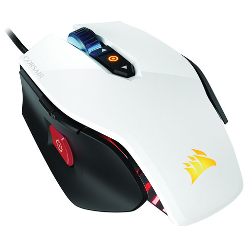 Corsair M65 RGB Wired Optical Gaming Mouse (CH-9000110-NA) - White