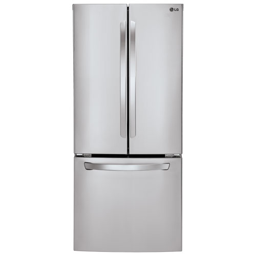 "LG 30"" 21.8 Cu. Ft. French Door Refrigerator - Stainless Steel"