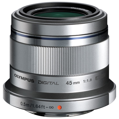 Olympus M.Zuiko 45mm f/1.8 Lens - Silver