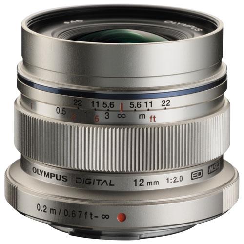 Olympus M.Zuiko 12mm f/2.0 Lens - Silver