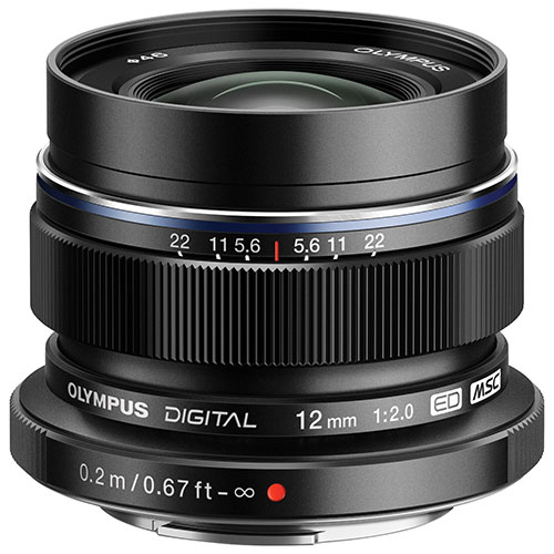 Olympus M.Zuiko 12mm f/2.0 Lens - Black