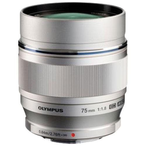 Olympus M.Zuiko 75 mm f/1.8 Lens - Silver