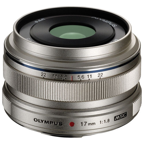 Olympus M.Zuiko 17mm f/1.8 Lens - Silver