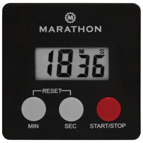 Minuteur digital de 100 minutes avec pince magnétique de Marathon - Noir