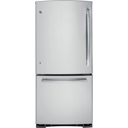 "GE 30"" 20.2 Cu. Ft. Bottom Mount Refrigerator (PDR20KSELES) - Stainless Steel"