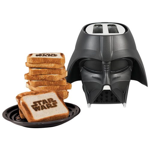 Star Wars Darth Vader Cool Wall Toaster 2 Slice Black