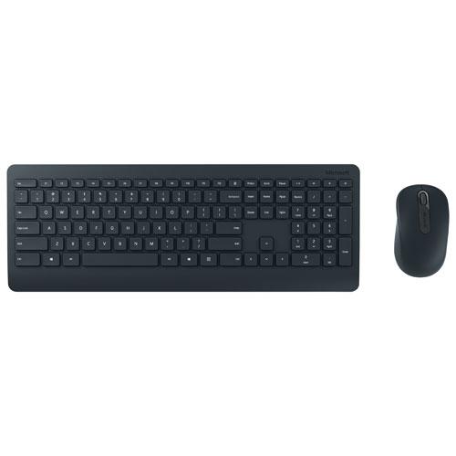 Ens. clavier et souris sans fil Wireless Desktop 900 BlueTrack de Microsoft (PT3-00003) - Noir - Fr